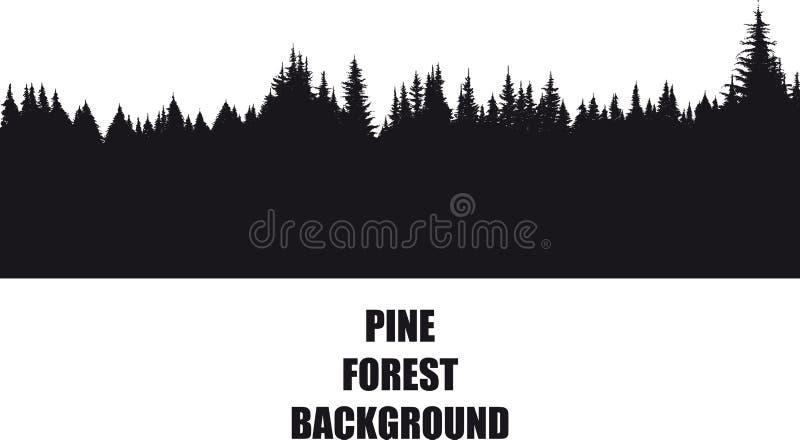 Fondo del bosque del pino libre illustration