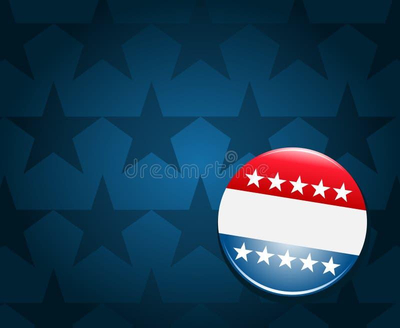Fondo del botón de la campaña electoral de  stock de ilustración
