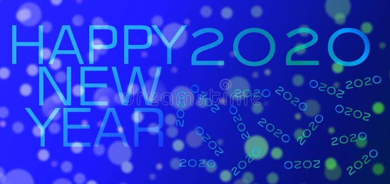 Fondo del buon anno vago eclissi astratta variopinta di colore degli azzurri illustrazione di stock