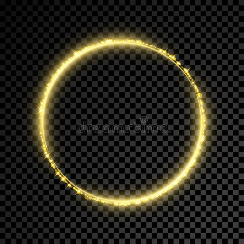 Fondo del círculo de la estrella del brillo del oro libre illustration