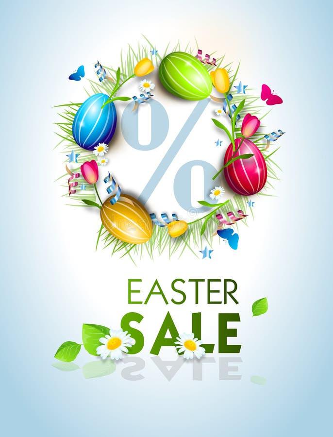 Fondo del círculo de los huevos de Pascua libre illustration
