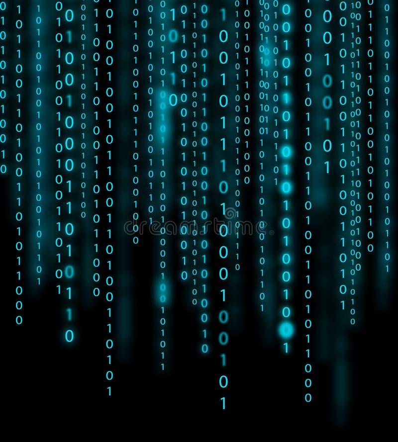 Fondo del código binario foto de archivo