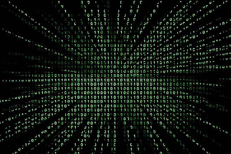 Fondo del código binario stock de ilustración