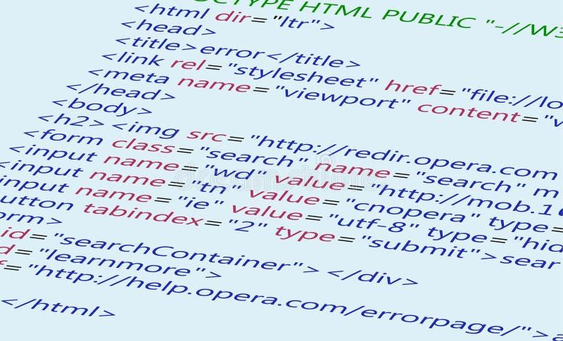 Fondo del código del HTML del Web libre illustration