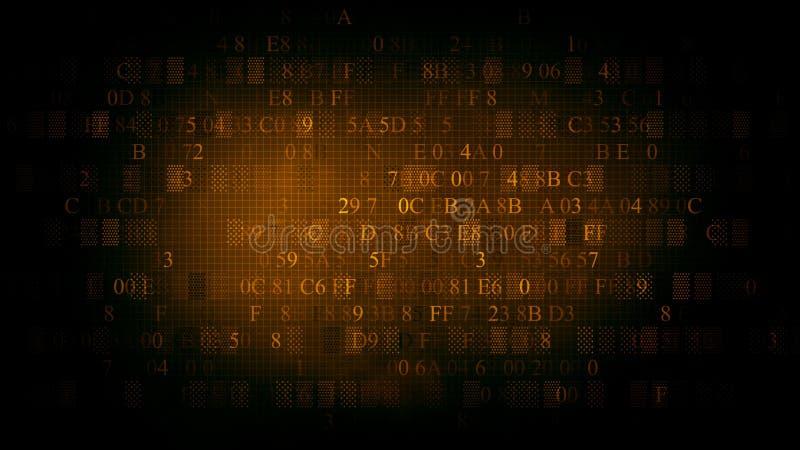 Fondo del código hexadecimal Fondo del color marrón libre illustration