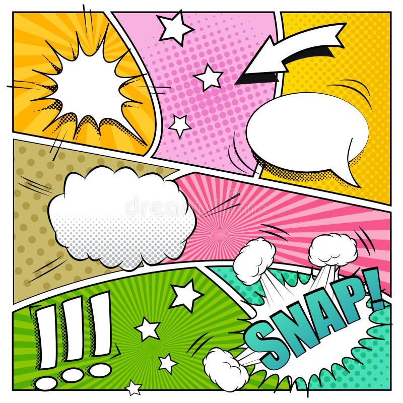 Fondo del cómic stock de ilustración
