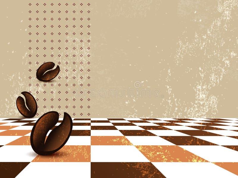 Fondo del café del Grunge libre illustration
