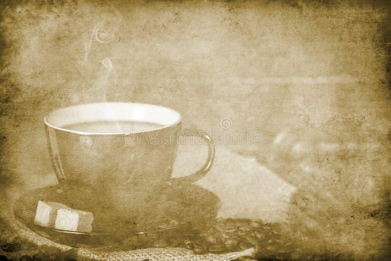 Fondo del caffè dell'annata fotografia stock