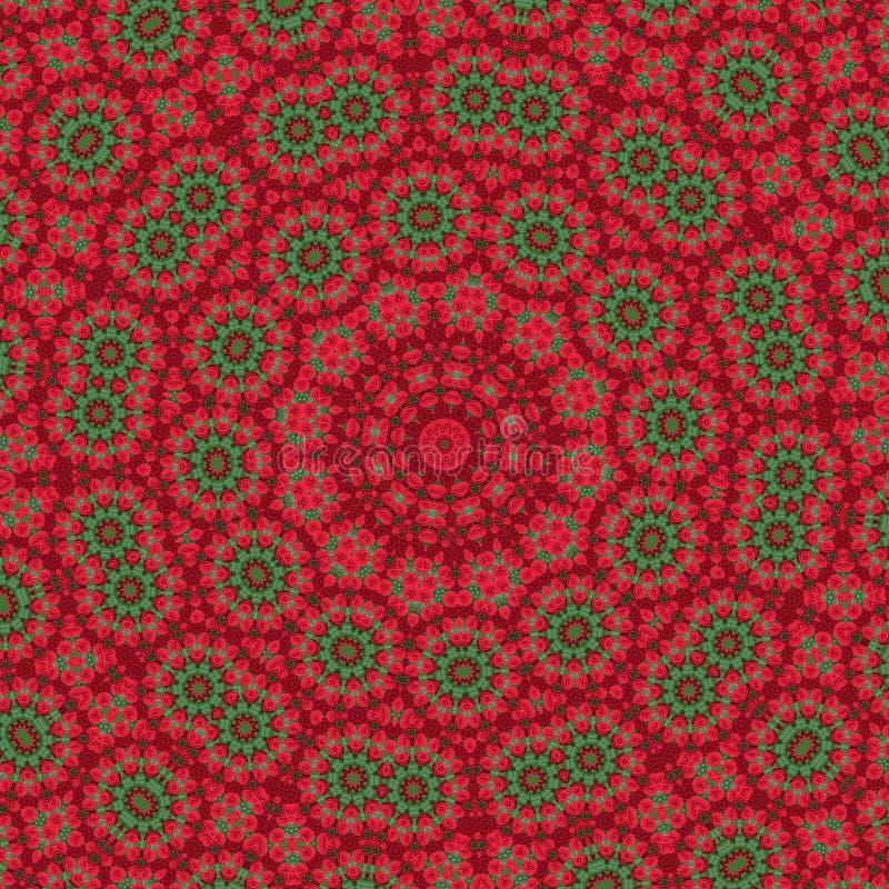 Fondo del caleidoscopio Modelo abstracto de la mandala del fractal Diseño de la impresión para la decoración superficial ejemplo  ilustración del vector