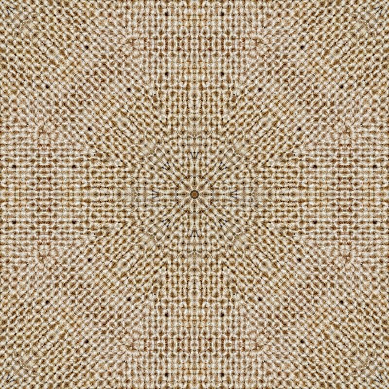Fondo del caleidoscopio del tessuto di simmetria del modello brown royalty illustrazione gratis