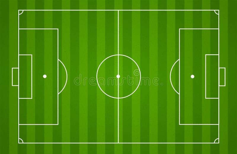 Fondo del campo de fútbol ilustración del vector
