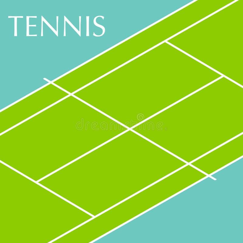 Fondo del campo de tenis ilustración del vector