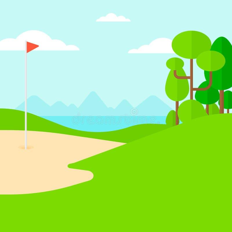 Fondo del campo del golf ilustración del vector