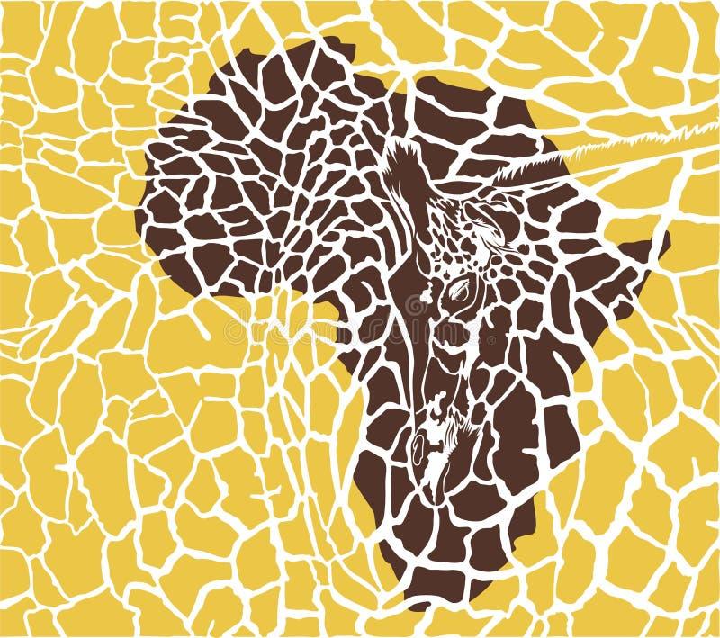 Fondo del camuflaje con las jirafas stock de ilustración