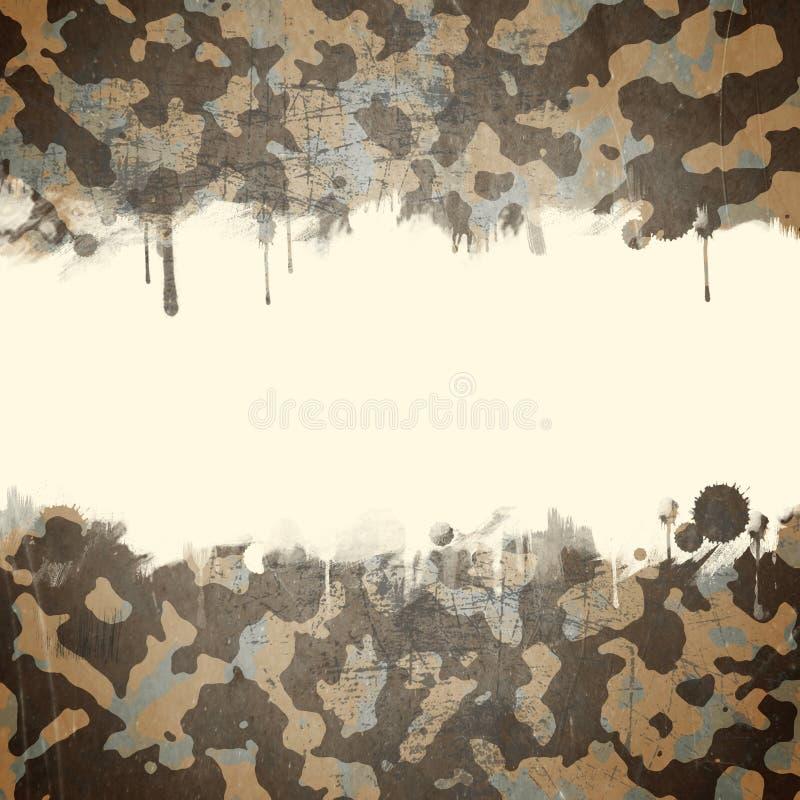 Fondo del camuflaje del ejército del desierto con el espacio para t libre illustration