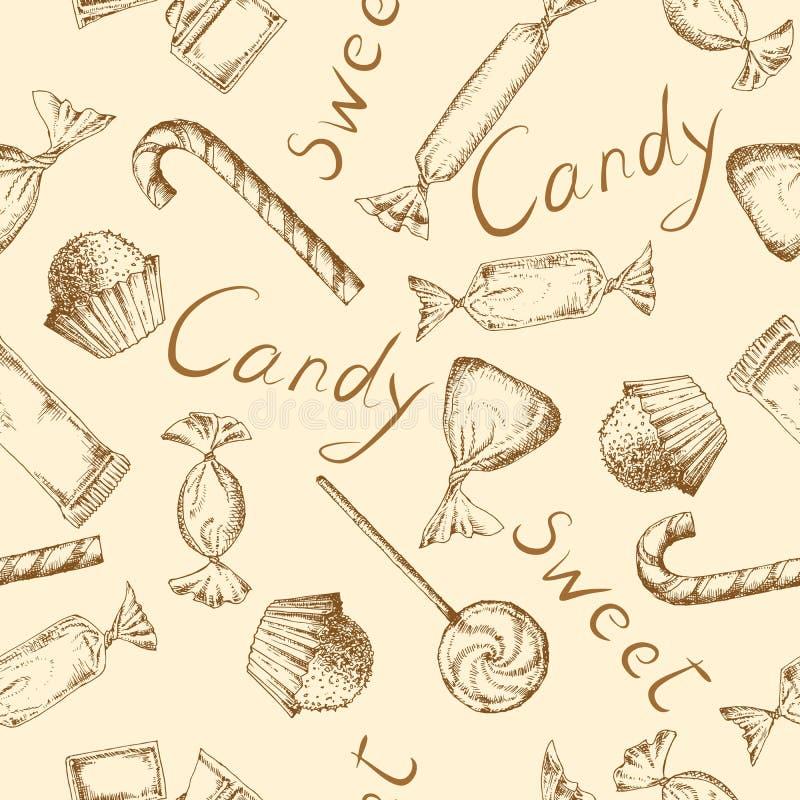 Fondo del caramelo del vintage ilustración del vector