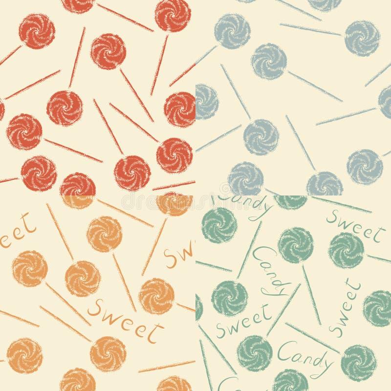 Fondo del caramelo del vintage stock de ilustración