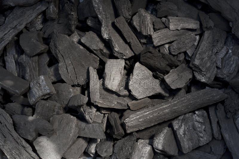 Fondo del carbón de leña fotografía de archivo libre de regalías