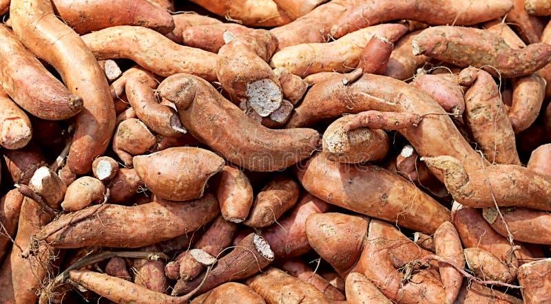 Fondo del carbohidrato del ñame de la patata dulce imagenes de archivo