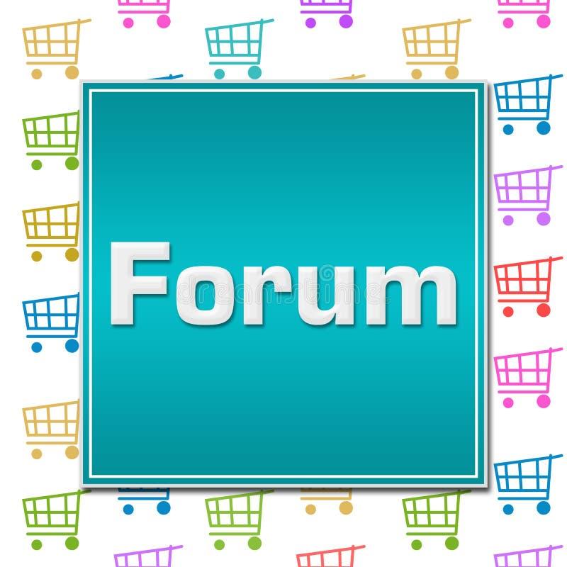Fondo del carretto di forum shopping royalty illustrazione gratis