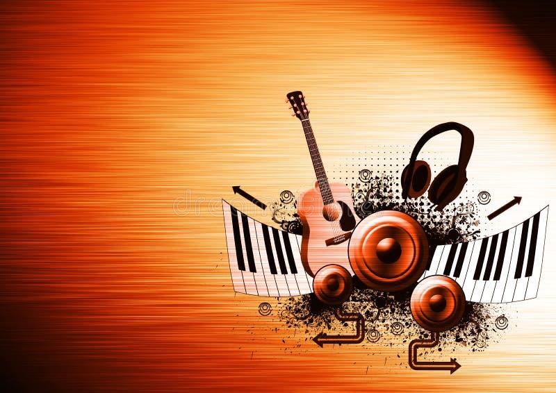 Fondo del cartel de la música ilustración del vector