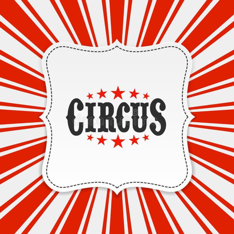 Fondo del cartel del circo stock de ilustración