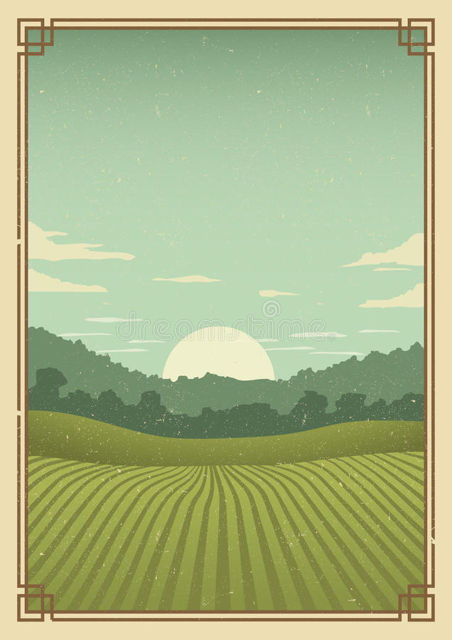 Fondo del cartel del golf del vintage stock de ilustración