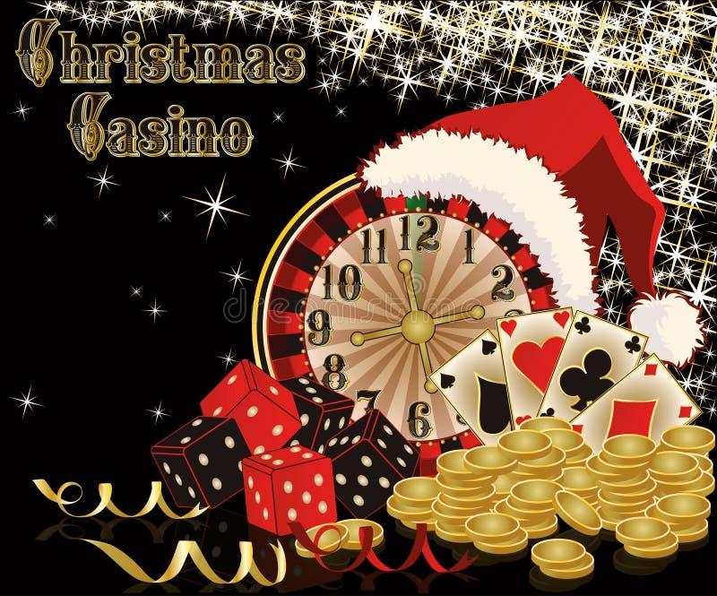 Fondo del casinò di Natale illustrazione di stock