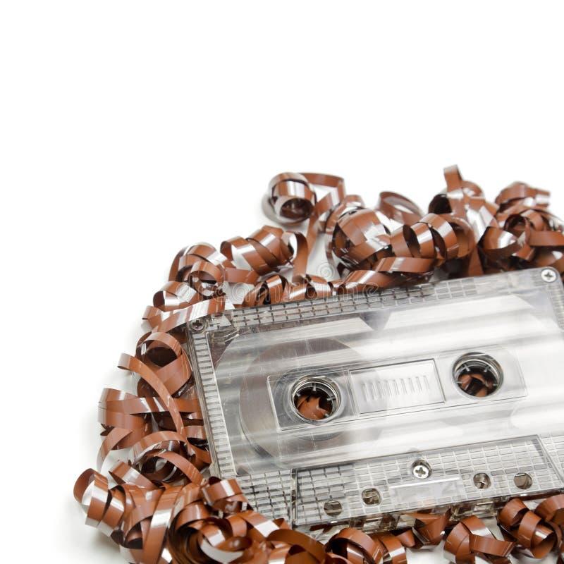 Fondo del cassette audio imágenes de archivo libres de regalías
