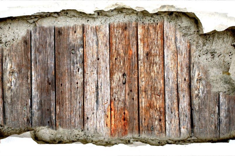 Fondo del cemento de madera y de la grieta imagenes de archivo