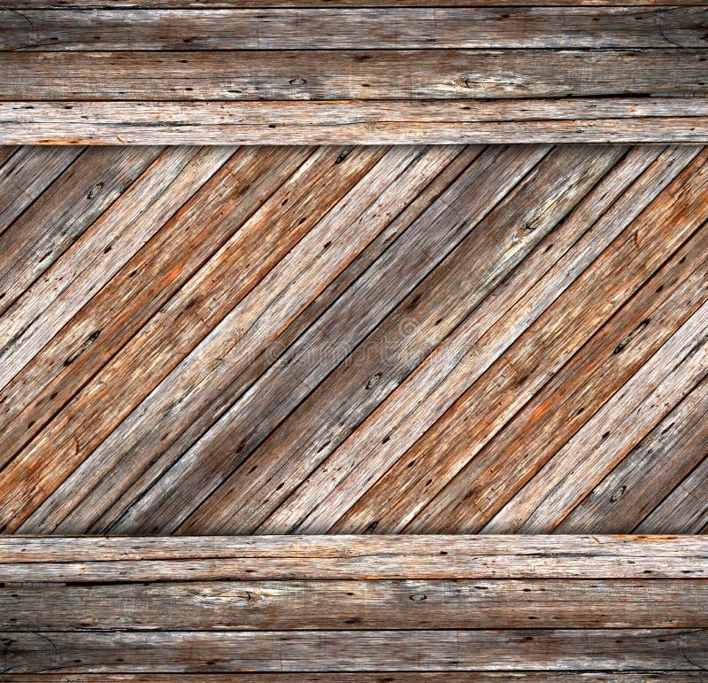 Fondo del cemento de madera y de la grieta fotos de archivo