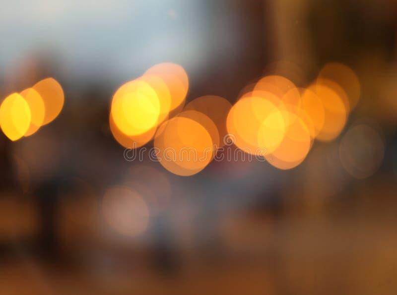 Fondo del centelleo de la falta de definición de la luz de la ciudad del extracto Foco suave imagenes de archivo
