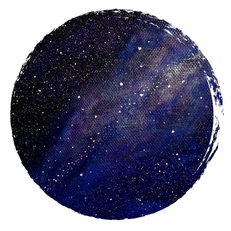 Fondo del cerchio dello spazio Illustrazione dello spazio nel cerchio Modello per le carte ed i manifesti Immagine cosmica illustrazione vettoriale