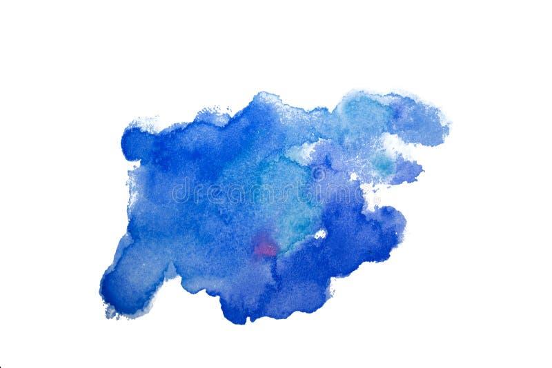 Fondo del chapoteo de la acuarela de la mancha El ejemplo colorido del watercolour cae goteos y manchas blancas /negras Azul y co ilustración del vector
