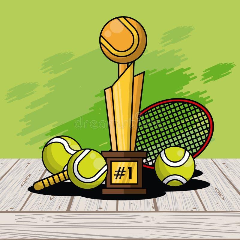 Fondo del chapoteo de la tarjeta del trofeo del equipo de las bolas de los deportes libre illustration