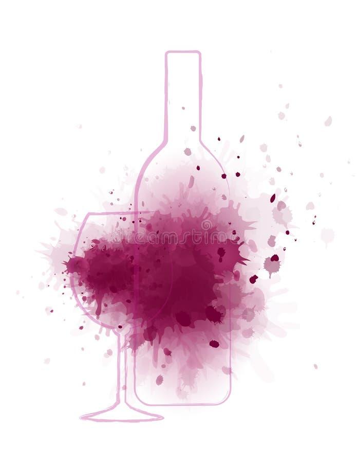 Fondo del chapoteo del vino libre illustration