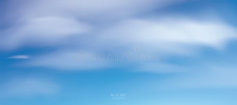 Fondo del cielo azul con las nubes blancas Cielo abstracto para el fondo natural libre illustration