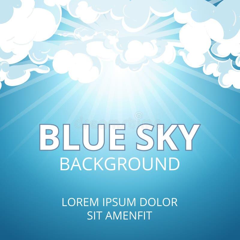 Fondo del cielo azul y de las nubes ilustración del vector