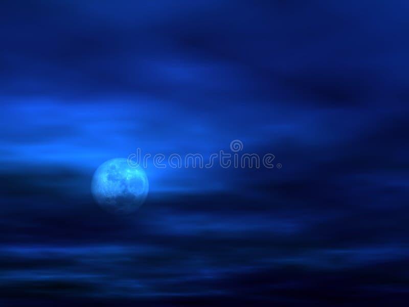 Fondo del cielo con la luna [3] stock de ilustración