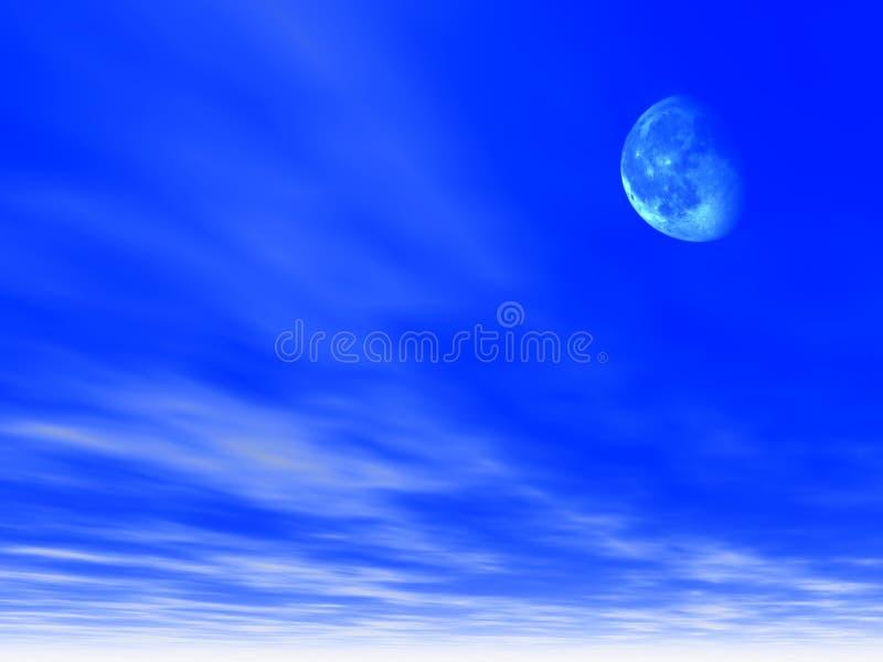 Fondo del cielo con la luna ilustración del vector