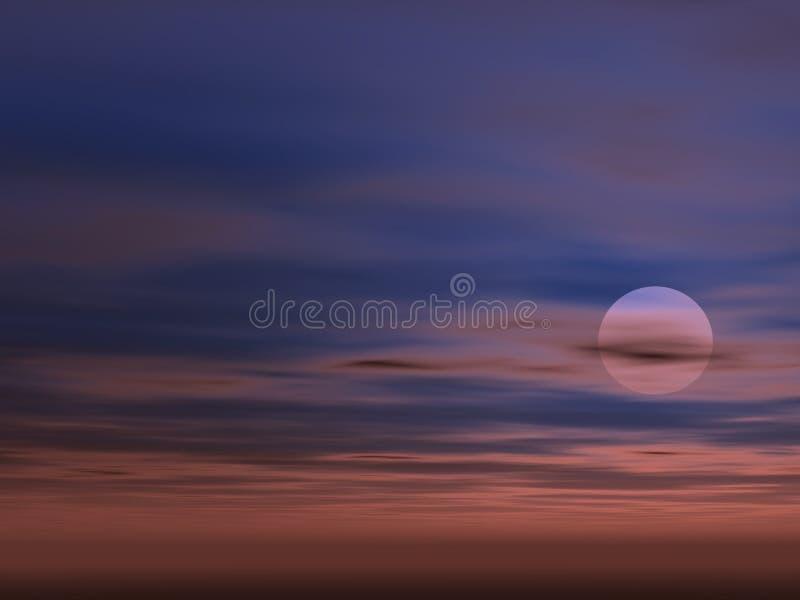 Fondo Del Cielo Con Sun Imagen de archivo