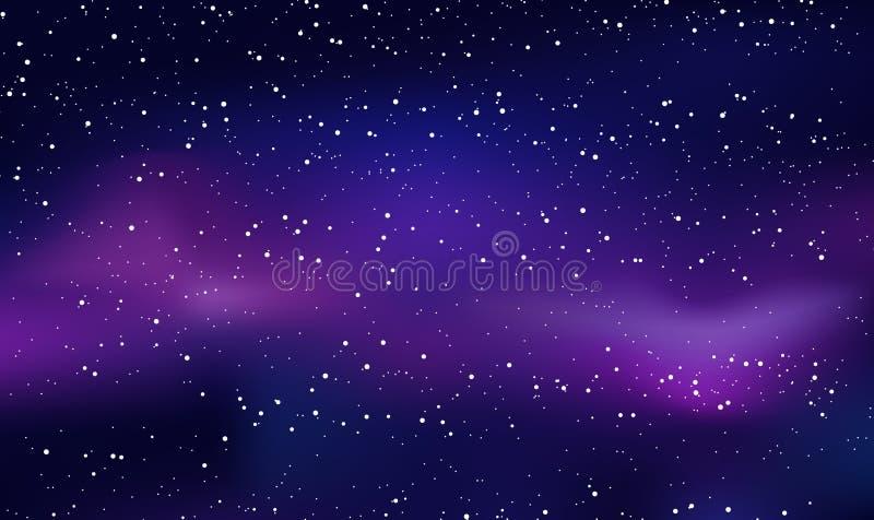 Fondo del cielo de la estrella Fondo del espacio Estrellas azules múltiples libre illustration