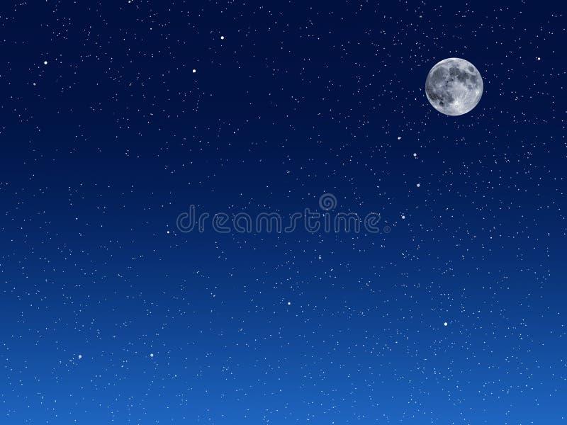 Fondo del cielo nocturno ilustración del vector