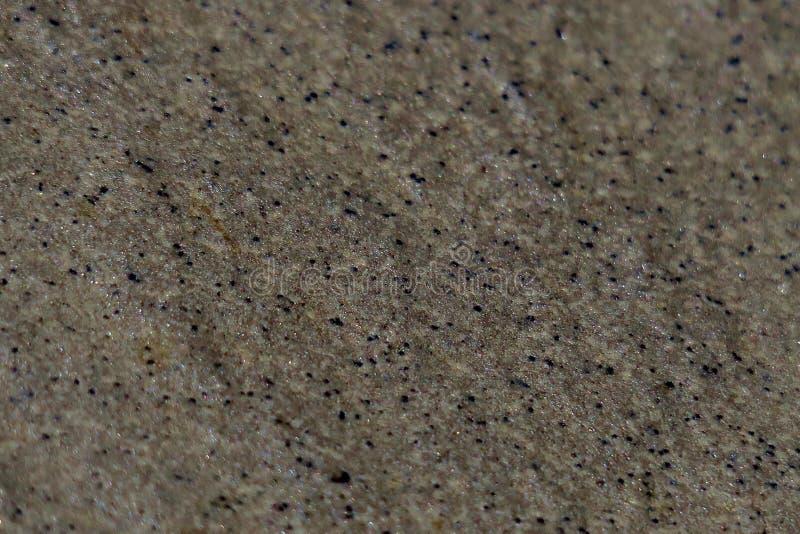 Fondo del cierre mojado y brillante de la arena para arriba foto de archivo
