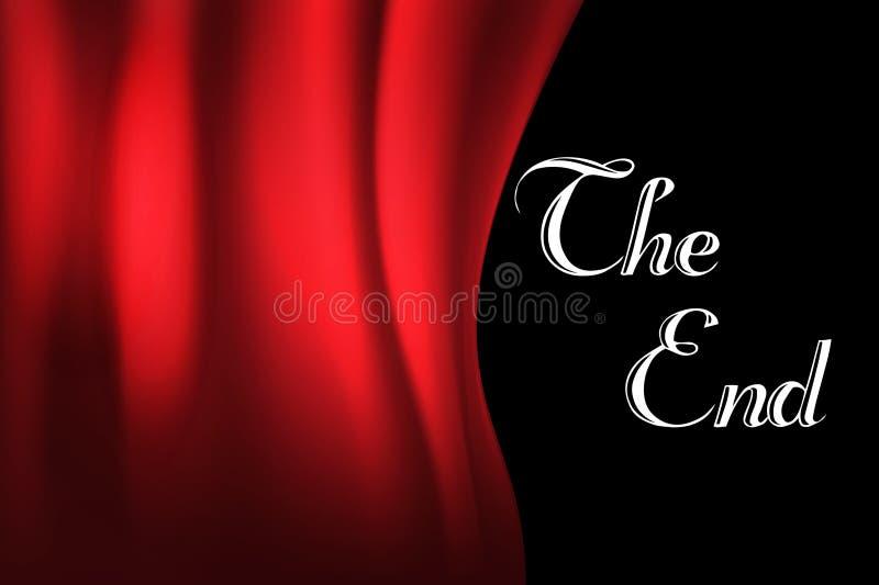 Fondo del cine del vintage Rojo de la cortina El mensaje del extremo Ilustración del vector ilustración del vector