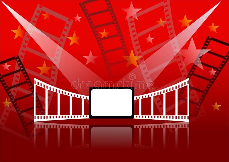 Fondo del cinema illustrazione di stock