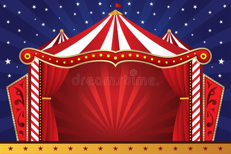 Fondo del circo stock de ilustración