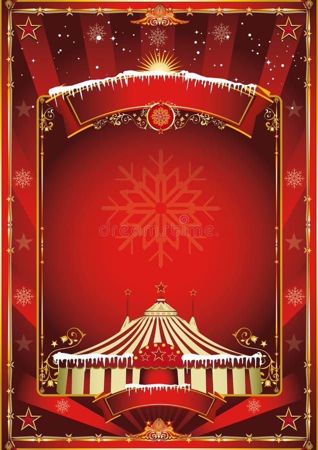Fondo del circo de la Navidad ilustración del vector