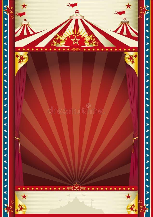 Fondo del circo de la vendimia ilustración del vector