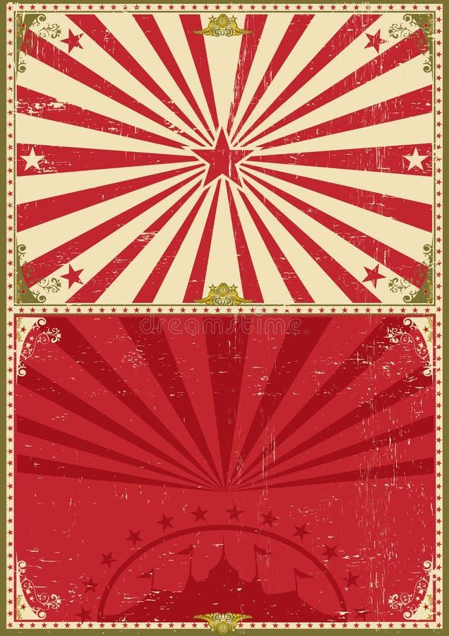 Fondo del circo del cartel del vintage stock de ilustración